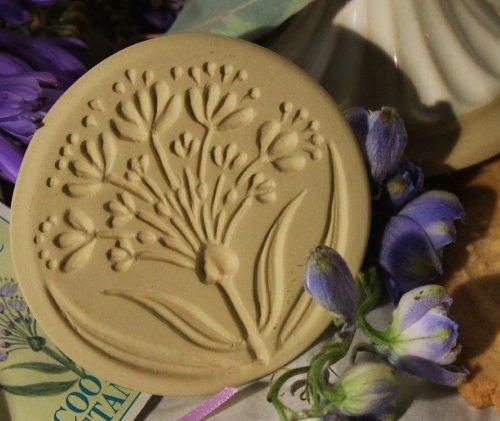 (Brown Bag Alium Flower Cookie Stamp - Art Nouveau Flower Series)