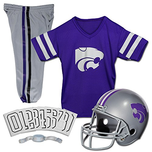 Franklin Sports NCAA Kansas State Wildcats Deluxe Youth Team Uniform Set, - Kansas Wildcats Mesh State