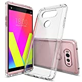 LG V20 Case, Ringke [Fusion] Clear PC Back TPU Bumper [Drop Protection/Shock Absorption Technology] Raised Bezels Protective Cover for LG V20 2016 - Clear