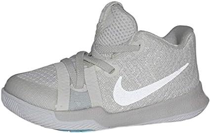 Nike Infant Kyrie 3 Basketball Shoes Ivory Pale Grey Light