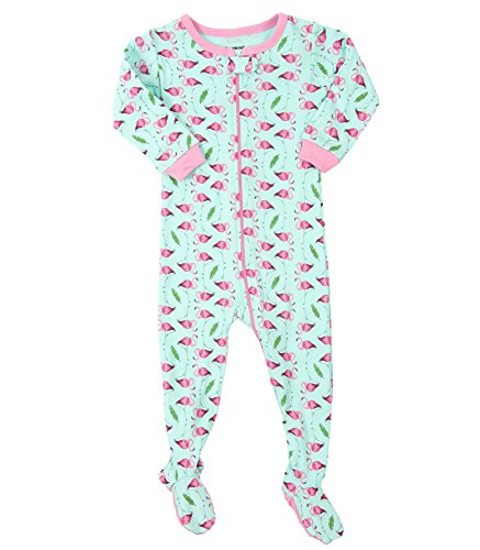 Leveret Flamingo Footed Pajama Sleeper 100% Cotton 12-18 Months