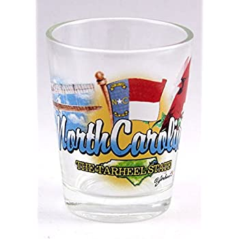 Amazon.com: North Carolina State Scenery Azul New Shot Glass ...