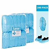 Sfee 200 Pack Shoe Covers-Disposable Hygienic, Non Slip, Durable,Water Resistance, Recyclable,Boot&Shoes Cover for Medical,Construction,Offices,Indoor Floor Carpet Protection,One Size Fits All(Blue)