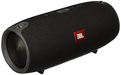 JBL Xtreme Portable Wireless Bluetooth Speaker with Rich Sound, Splashproof, USB Port, Answering Phone Calls for Smartphone, Laptop, Tablet - Black