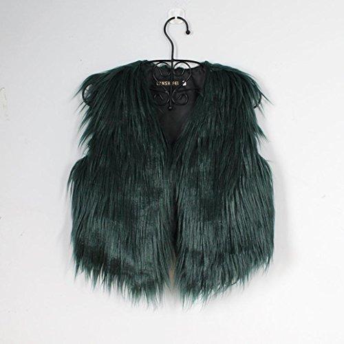 de las mujeres las la de ejercito Chaleco Cinnamou punto de piel Mujer de Chaleco la chaqueta señoras Outwear sintética chalecos Abrigo de mangas las verde señoras sin Chaleco de 8w8Iqz7Z