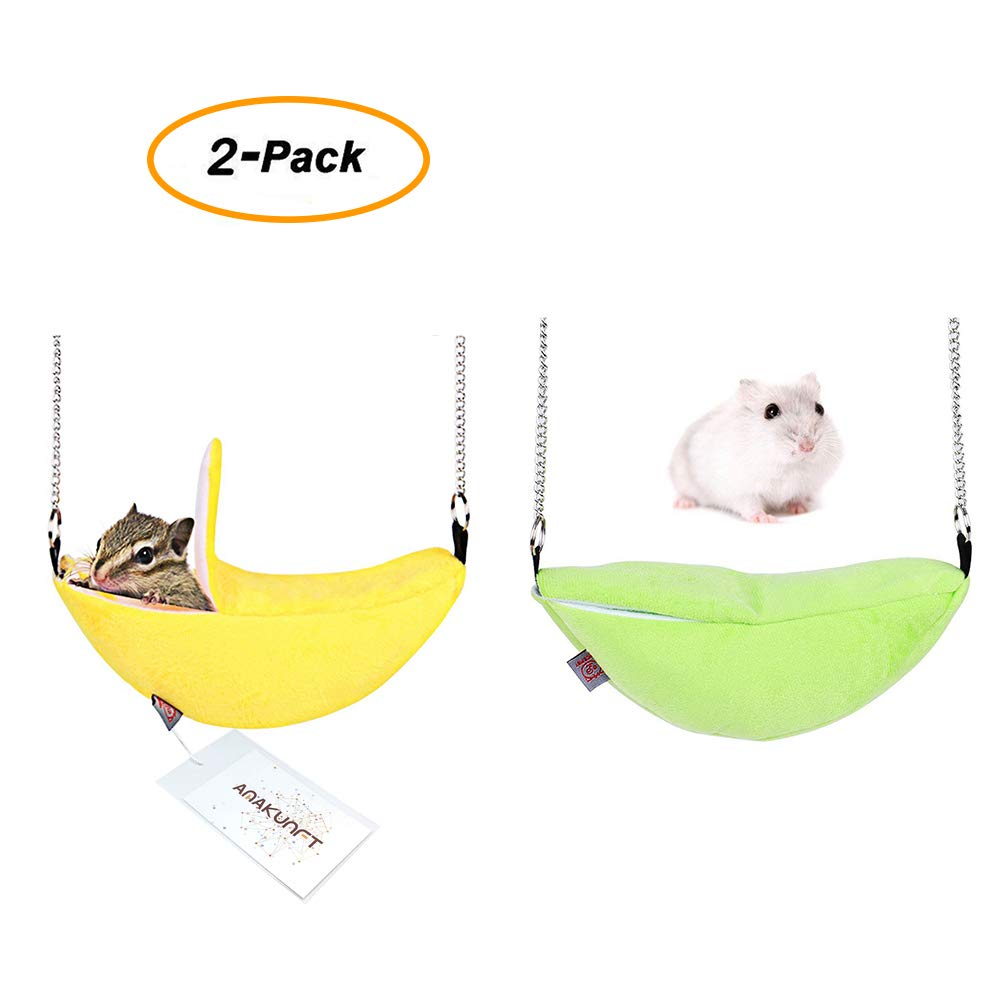Hamster Bedding, Chinchilla Cage Accessories Hammock, Hamster House Toys for Small Animal Sugar Glider Squirrel Chinchilla Hamster Rat Playing Sleeping