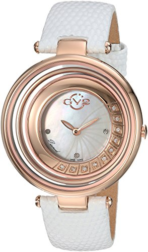 GV2-by-Gevril-Womens-Vittoria-Swiss-Quartz-Stainless-Steel-and-Leather-Casual-Watch-ColorWhite-Model-1601L