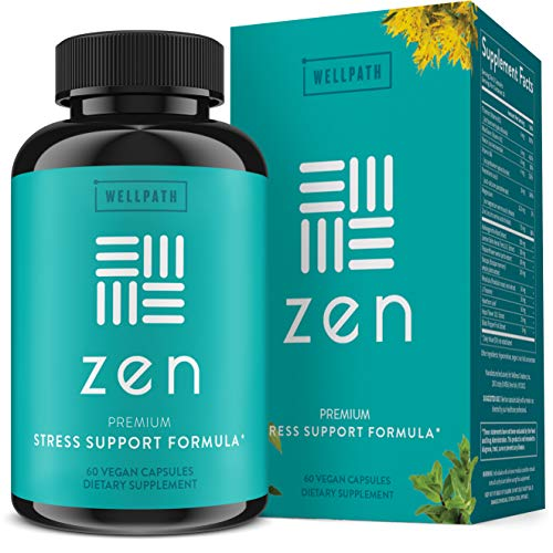 Zen Anxiety and Stress Relief Supplement – Premium Herbal Formula Supporting Calm Mood with Ashwagandha, L-Theanine…