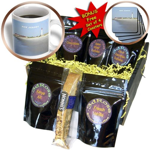 Florene America The Beautiful - Cape May New Jersey With Lighthouse n Beach - Coffee Gift Baskets - Coffee Gift Basket (cgb_80580_1)