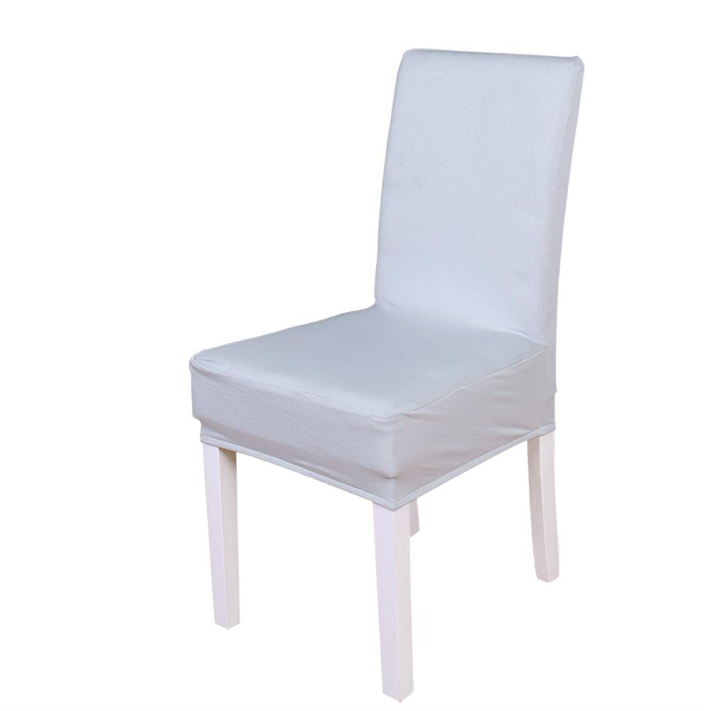 Confezione di 2PC elastico della sedia, colore solido morbido poliestere spandex Lycra rimovibile Protezione sedili sgabello Slipcovers per hotel ristorante festa di nozze casa decorazione della sala da pranzo Apple Green Dream Wedding