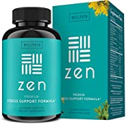Zen Anxiety and Stress Relief Supplement - Premium Herbal Formula Supporting Calm Mood with Ashwagandha, L-The