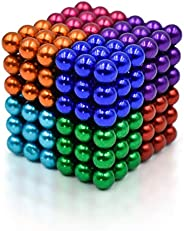 Sky Magnets 5 mm Magnetic Balls Cube Fidget Gadget Toys Rare Earth Magnet Office Desk Toy Games Multicolored B