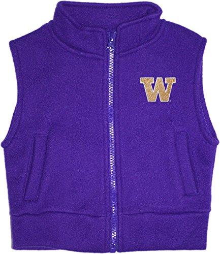 (Creative Knitwear University Of Washington Huskies Newborn Infant Baby Polar Fleece Vest,Washington Purple,18)