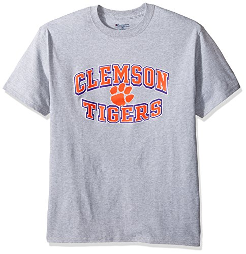 NCAA Clemson Tigers Men's Champ Short Sleeve T-Shirt 7, Large, -