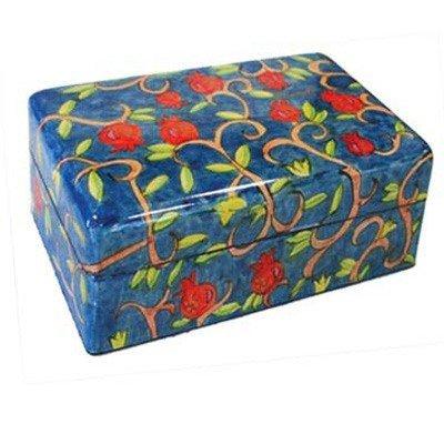 Bat Mitzvah Box - Small Jewelry Box - Pomegranates