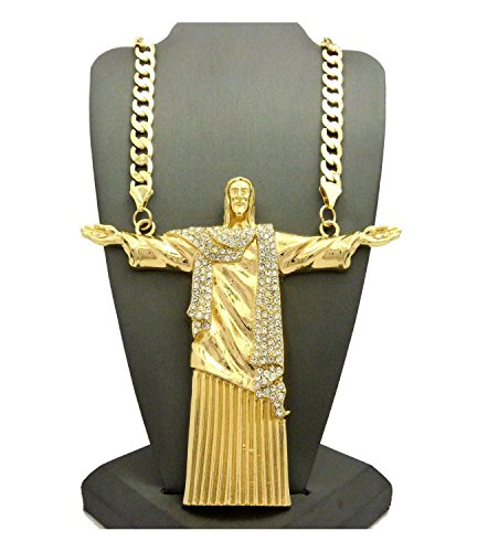 Mens Jumbo Large Jesus Christ God Redeemer Rope Cuban Franco 30