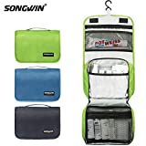 Hanging Toiletry Bag Multifunction Cosmetic Bag Portable Makeup Organizer for Women Girls and Men,Waterproof Bathroom Shower Bag With Sturdy Hook.(Fresh Green)