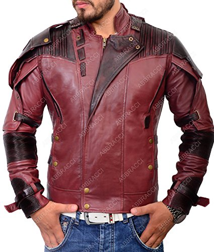 Abbracci Star Lord Jacket Galaxy Men's Leather Motorcycle Vol 2 Biker Costume Coat ►Limited Edition◄ (S, Without - Jacket Biker Costume