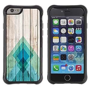 Suave TPU GEL Carcasa Funda Silicona Blando Estuche Caso de protección (para) Apple Iphone 6 / CECELL Phone case / / Teal Pier Wood Pattern Lines Blue Abstract /