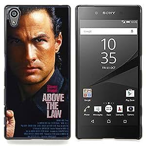 """Qstar Arte & diseño plástico duro Fundas Cover Cubre Hard Case Cover para Sony Xperia Z5 5.2 Inch (Not for Z5 Premium 5.5 Inch) (Por encima de la ley- Seagal"""")"""
