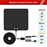 HDTV ANTENNA,Updated 2018 Newest Version 60-80 Miles Long Range Support Indoor 1080P/4K Digital TV Hd Antenna,Detachable Amplifier Signal Booster,ANCROWN 13.2FT High Performance Coaxial Cable