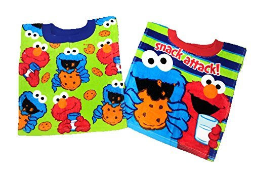 Price comparison product image Royal Boys Sesame Street Elmo Cookie Monster Baby Bibs- 2 Piece Pack (Green Pattern / Stripes)