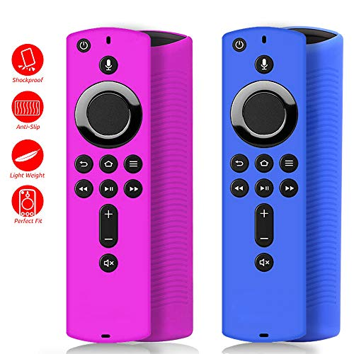 [2 Pack ] Firestick Remote Cover Case, Silicone Remote Cover Case Compatible with 4K Firestick, Lightweight Anti Slip…