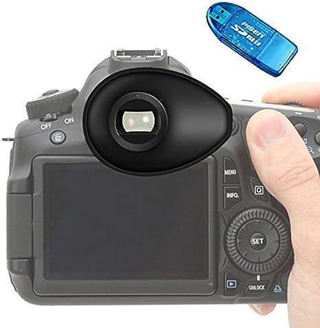First2savvv – Portaocular de goma de visor para cámara réflex ...