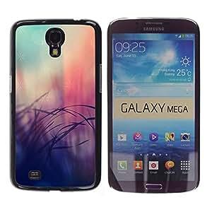 Patrón Leopard Pink Fading borrosa Piel- Metal de aluminio y de plástico duro Caja del teléfono - Negro - Samsung Galaxy Mega 6.3