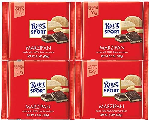 Ritter Sport Marzipan Dark Chocolate 100g Pack Of 4 Amazon Co Uk Grocery