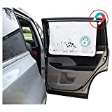 ggomaART Car Side Window Sun Shade - Universal Reversible Magnetic Curtain for Baby and Kids with Sun Protection Block Damage from Direct Bright Sunlight, Heat, and UV Rays - 1 Piece of Lion: more info