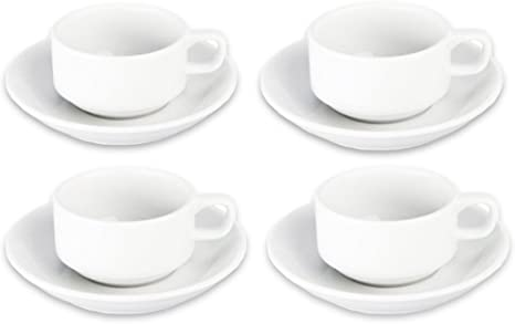 Bia Cordon Bleu Bistro Espresso Cup And Saucer Set Of 4 White Coffee Cup With Saucer Cup Saucer Sets