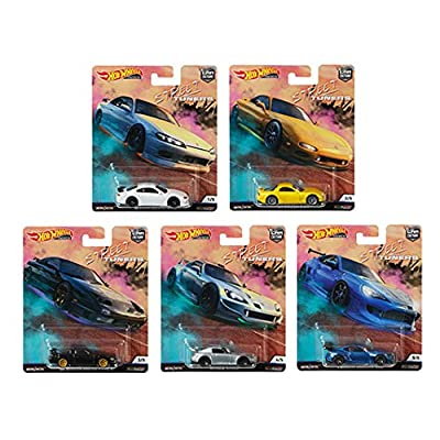 Hot Wheels 2020 Car Culture Street Tuners Series Set of 5, 1/64 Scale Diecast Model Cars: Toys & Games