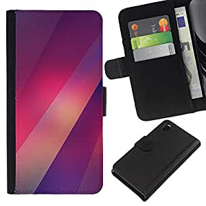 Stuss Case / Funda Carcasa PU de Cuero - Purple Luces Patrón borrosa - Sony Xperia Z3 D6603