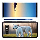 Luxlady Premium Samsung Galaxy Note8 Aluminum Backplate Bumper Snap Case they playing in the field these lambs IMAGE ID 25446237 Recommended with Reviews