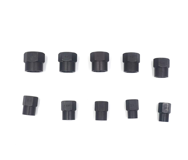 Alto kit de extractor de perno de tuerca de tornillo roto Juego de 10 piezas de removedor de tuerca de perno da/ñado