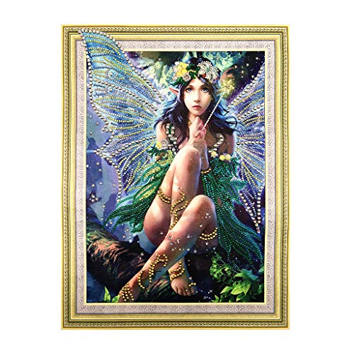 EAPTS Wing Girl 5D Special Shaped Diamond Painting Embroidery Needlework Rhinestone Crystal Cross Craft Stitch Kit DIY ()