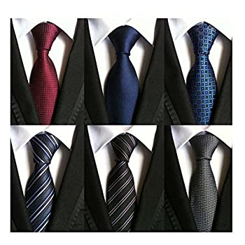 - 51Fl2c1HPiL - WeiShang Lot 6 PCS Classic Men's Tie Silk Necktie Woven JACQUARD Neck Ties