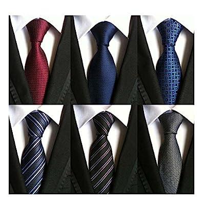 - 51Fl2c1HPiL - WeiShang Lot 6 PCS Classic Men's Tie Silk Necktie Woven JACQUARD Neck Ties