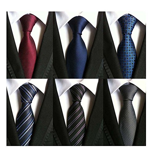 WeiShang+Lot+6+PCS+Classic+Men%27s+100%25+Silk+Tie+Necktie+Woven+JACQUARD+Neck+Ties+%28Style+14%29