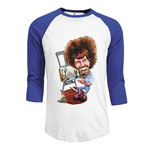 Bro-Custom Bob Ross Painter Men Baseball Raglan Tshirt Size - Painter Facebook