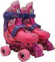 PlayWheels Disney Frozen Kids Classic Quad Roller Skates, Junior Size 1-4