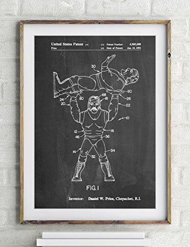 Hulk Hogan Wrestling Action Figure Patent Poster