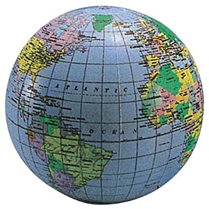 Inflatable Globe World Map. Inflatable World Globe 20 quot  Amazon com Toys Games