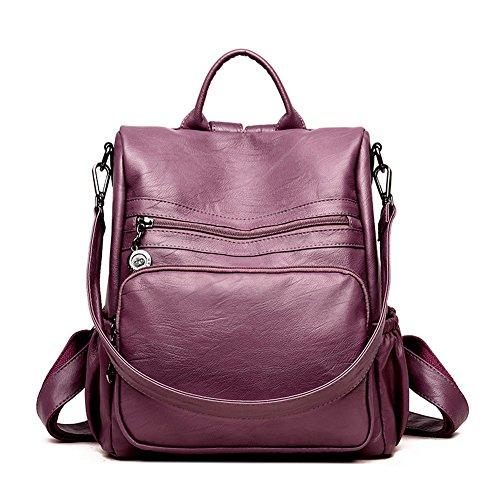 A marrón Mujer al Bolso purple para Hombro DSLONG zYwp6