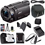 Sony FDR-AX33 4K Ultra HD Handycam Camcorder + NP-FV70 Battery + External Charger + 16GB SDHC Card + Case + Mini HDMI Cable + Card Reader + Card Wallet Saver Bundle