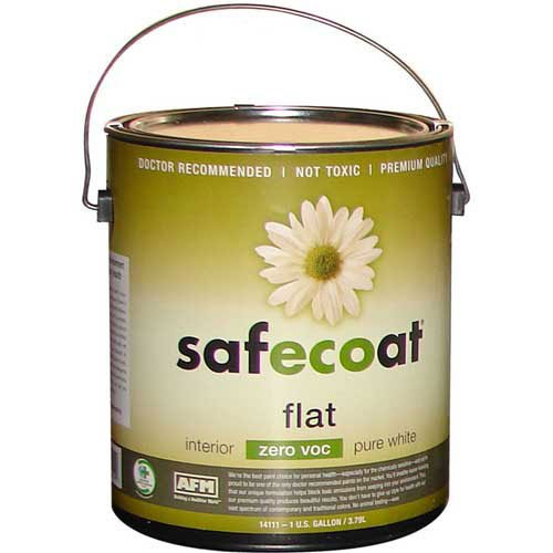Afm Safecoat Flat Paint Pastel Base 0 Voc, White Gallon Can 1/Case