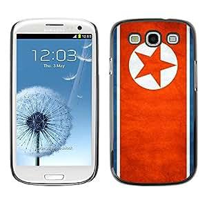 PC/Aluminum Funda Carcasa protectora para Samsung Galaxy S3 I9300 National Flag Nation Country North Korea / JUSTGO PHONE PROTECTOR