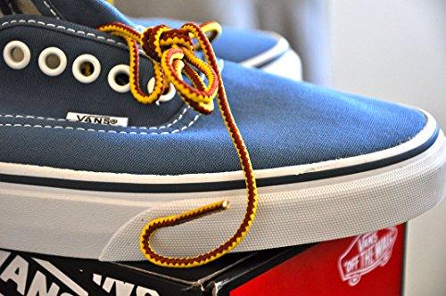 Shoeslulu 35-46 Premium Ronde Stevige Wandelschoen Sneakers Schoenveters Goudgeel / Bordeaux Wijn