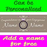 ArtStiskerCool Personalised Engagement PVC Banner With Eyelets Available